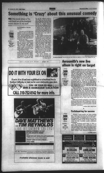 Daily Trojan, Vol. 136, No. 5, January 22, 1999
