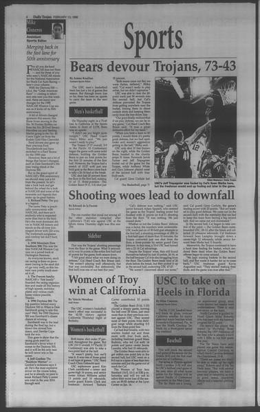 Daily Trojan, Vol. 133, No. 25, February 13, 1998