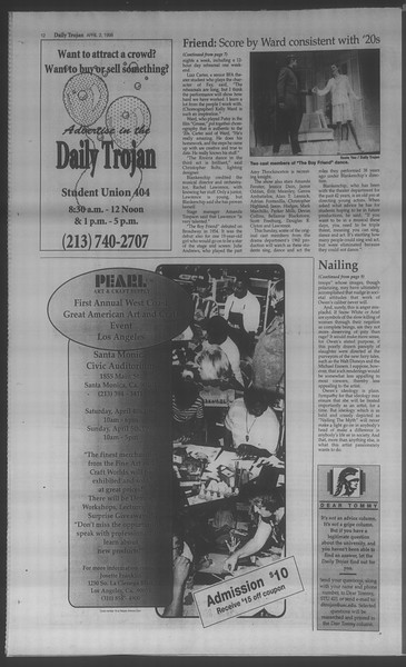 Daily Trojan, Vol. 133, No. 50, April 02, 1998