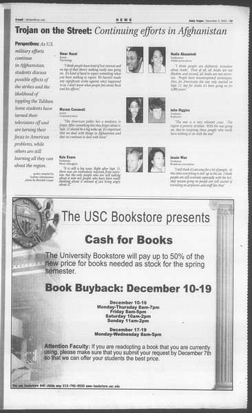 Daily Trojan, Vol. 144, No. 65, December 05, 2001