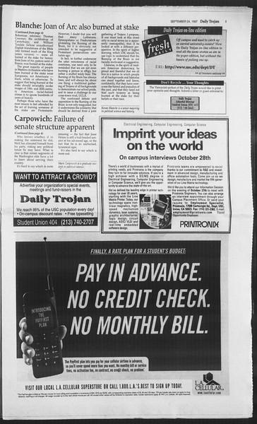 Daily Trojan, Vol. 132, No. 19, September 24, 1997