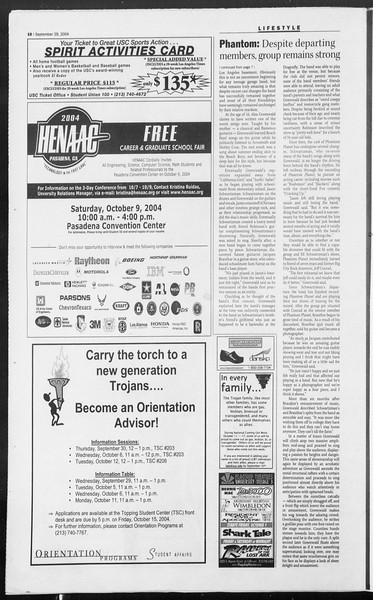 Daily Trojan, Vol. 153, No. 25, September 29, 2004