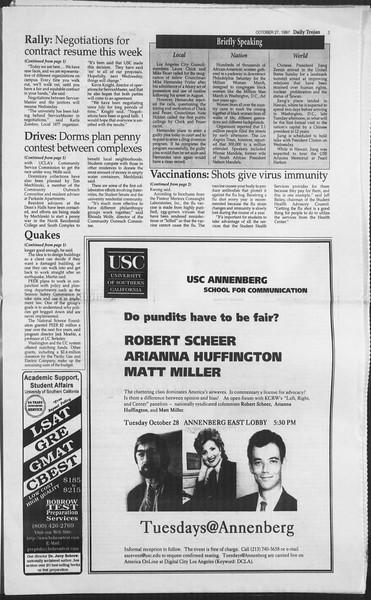 Daily Trojan, Vol. 132, No. 41, October 27, 1997