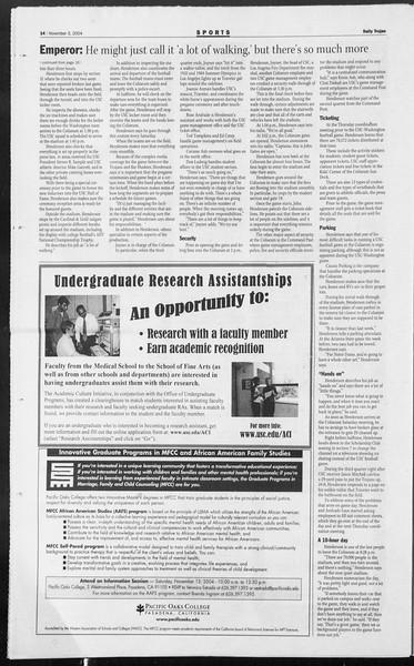 Daily Trojan, Vol. 153, No. 50, November 03, 2004