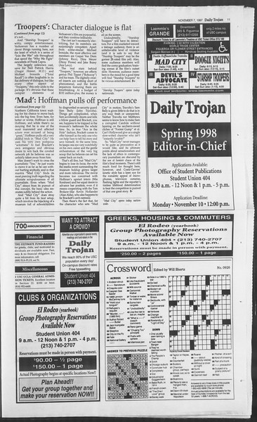 Daily Trojan, Vol. 132, No. 50, November 07, 1997