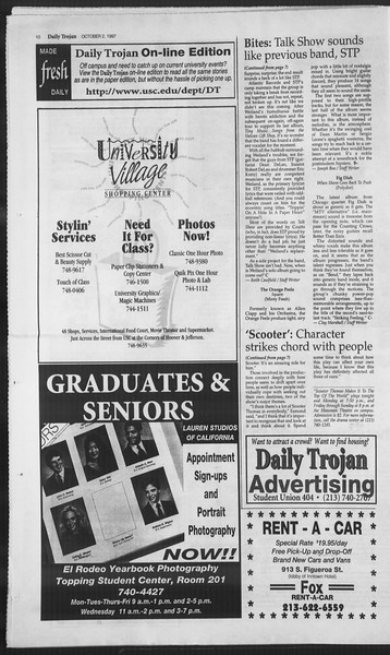 Daily Trojan, Vol. 132, No. 24, October 02, 1997