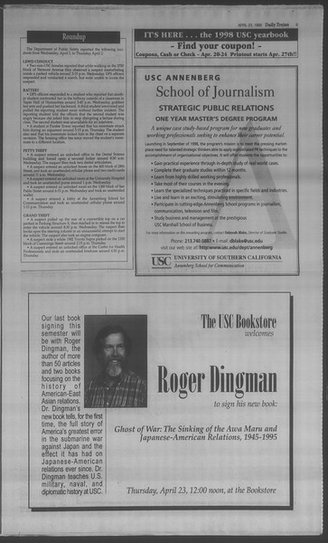 Daily Trojan, Vol. 133, No. 65, April 23, 1998