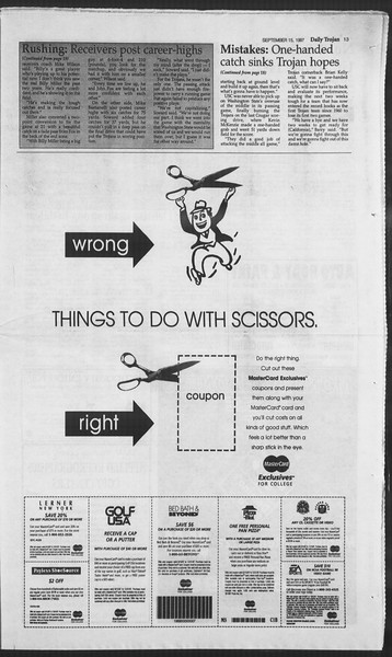 Daily Trojan, Vol. 132, No. 12, September 15, 1997