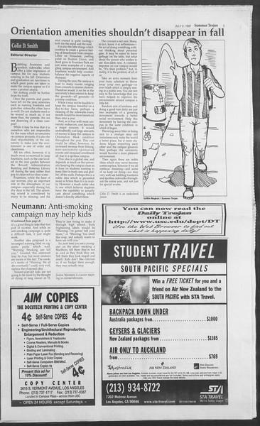 Summer Trojan, Vol. 131, No. 8, July 02, 1997