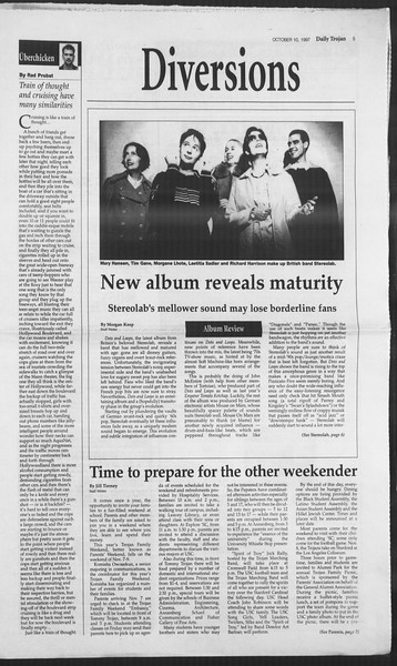 Daily Trojan, Vol. 132, No. 30, October 10, 1997