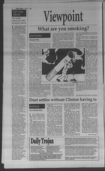 Daily Trojan, Vol. 133, No. 53, April 07, 1998