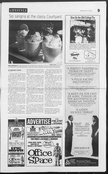 Daily Trojan, Vol. 160, No. 26, February 15, 2007