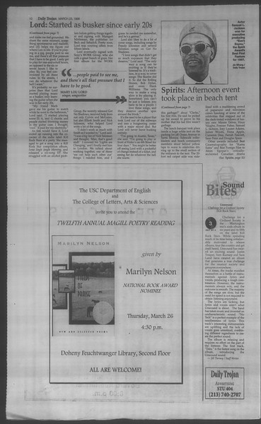 Daily Trojan, Vol. 133, No. 42, March 23, 1998