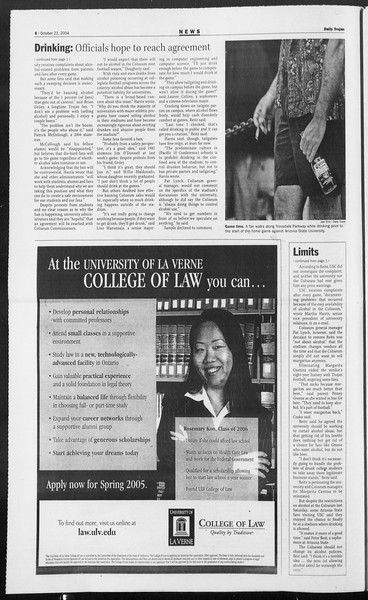 Daily Trojan, Vol. 153, No. 42, October 22, 2004