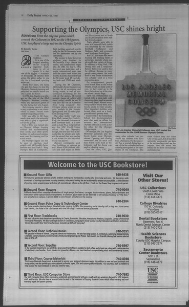 Daily Trojan, Vol. 133, No. 44, March 25, 1998