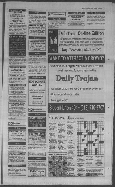 Daily Trojan, Vol. 133, No. 26, February 18, 1998