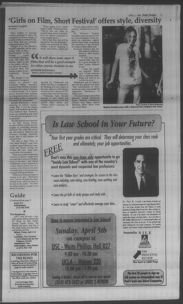 Daily Trojan, Vol. 133, No. 50, April 02, 1998
