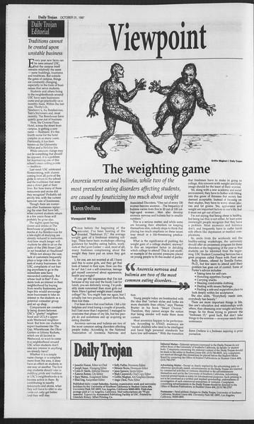 Daily Trojan, Vol. 132, No. 45, October 31, 1997