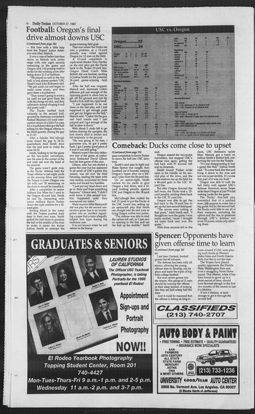 Daily Trojan, Vol. 132, No. 41, October 27, 1997