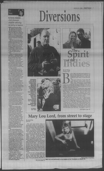 Daily Trojan, Vol. 133, No. 42, March 23, 1998