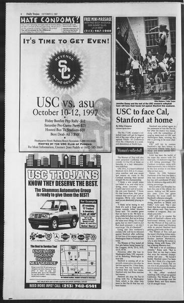 Daily Trojan, Vol. 132, No. 25, October 03, 1997