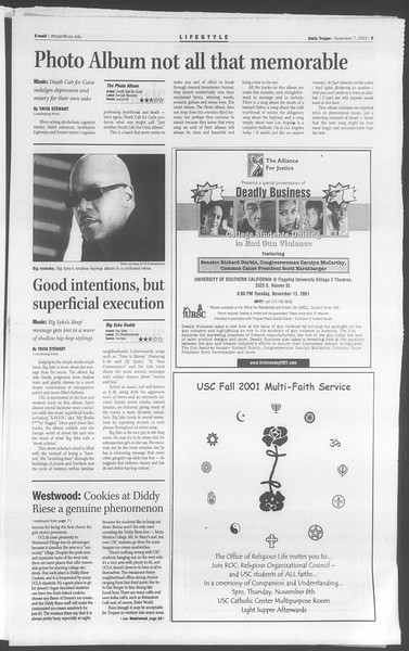 Daily Trojan, Vol. 144, No. 50, November 07, 2001