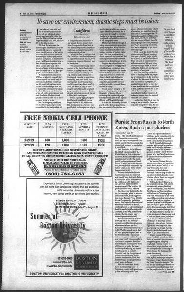 Daily Trojan, Vol. 142, No. 59, April 16, 2001