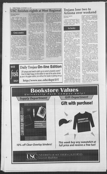Daily Trojan, Vol. 132, No. 57, November 18, 1997