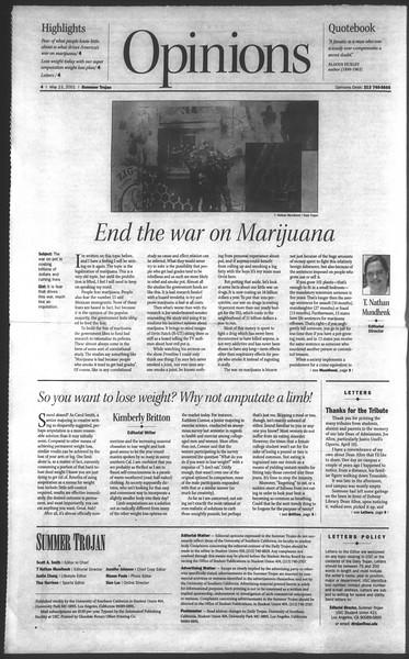Daily Trojan, Vol. 143, No. 1, May 23, 2001