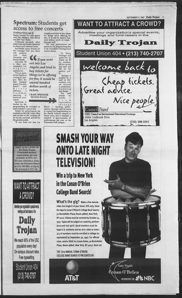 Daily Trojan, Vol. 132, No. 4, September 03, 1997
