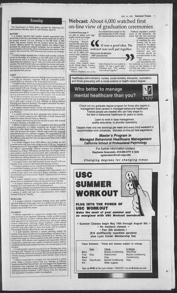 Summer Trojan, Vol. 131, No. 1, May 14, 1997