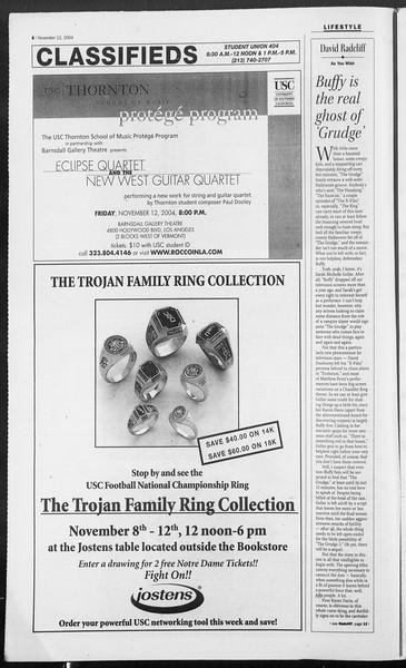Daily Trojan, Vol. 153, No. 57, November 12, 2004