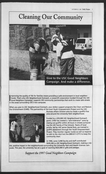 Daily Trojan, Vol. 132, No. 37, October 21, 1997