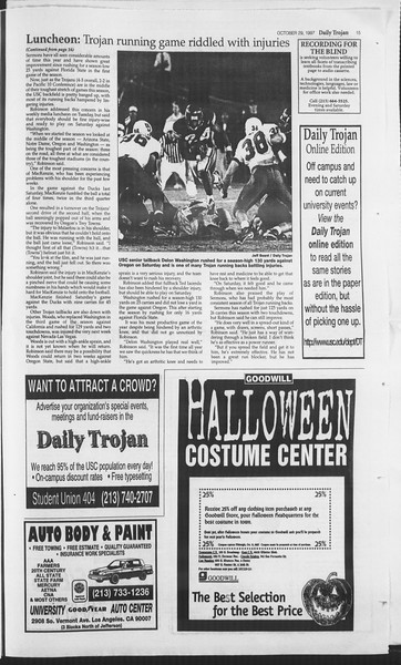 Daily Trojan, Vol. 132, No. 43, October 29, 1997