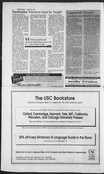 Daily Trojan, Vol. 132, No. 2, August 28, 1997