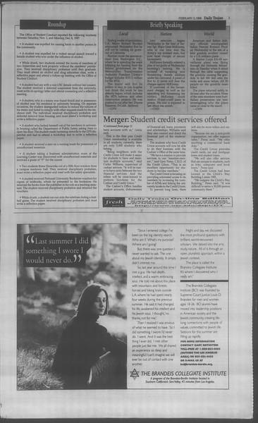Daily Trojan, Vol. 133, No. 19, February 05, 1998