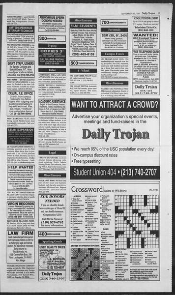 Daily Trojan, Vol. 132, No. 10, September 11, 1997