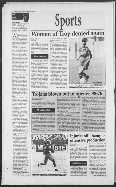 Daily Trojan, Vol. 132, No. 53, November 12, 1997