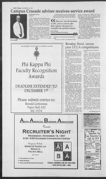 Daily Trojan, Vol. 132, No. 58, November 19, 1997