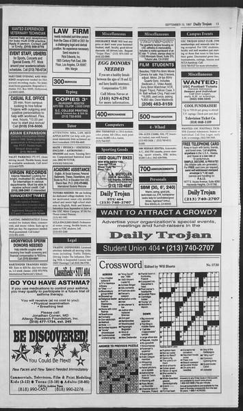 Daily Trojan, Vol. 132, No. 9, September 10, 1997