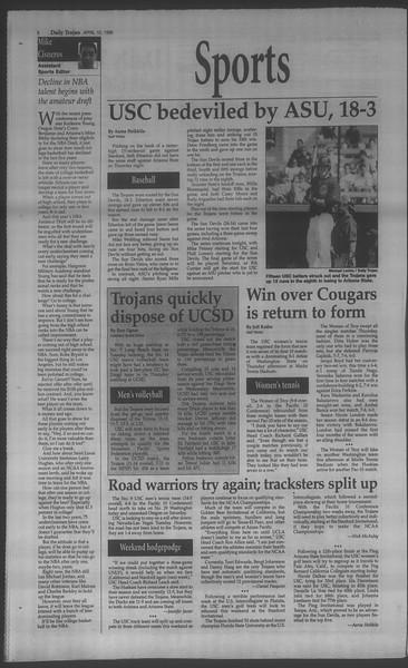 Daily Trojan, Vol. 133, No. 56, April 10, 1998