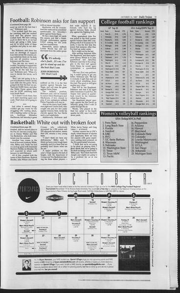Daily Trojan, Vol. 132, No. 33, October 15, 1997