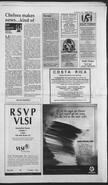 Daily Trojan, Vol. 132, No. 25, October 03, 1997