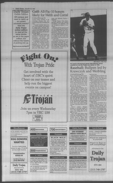 Daily Trojan, Vol. 133, No. 13, January 28, 1998