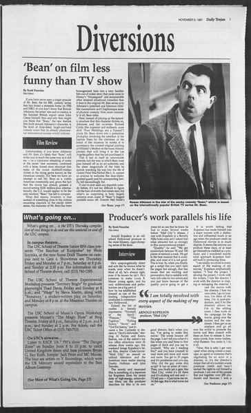 Daily Trojan, Vol. 132, No. 49, November 06, 1997