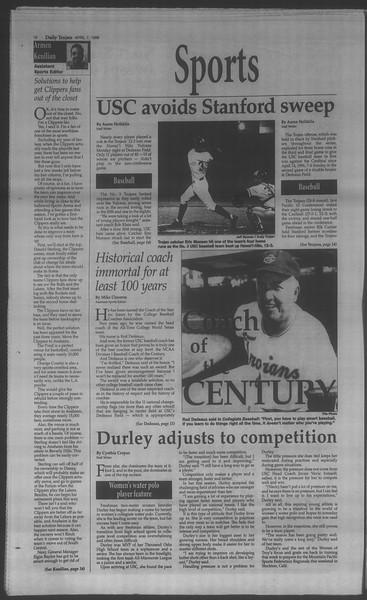 Daily Trojan, Vol. 133, No. 53, April 07, 1998