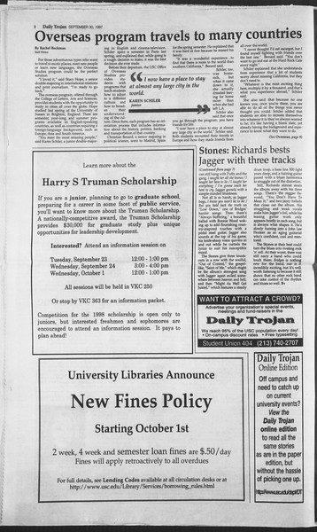 Daily Trojan, Vol. 132, No. 22, September 30, 1997