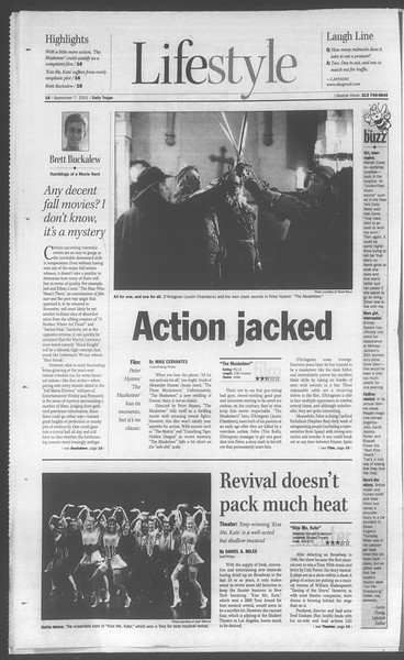 Daily Trojan, Vol. 144, No. 7, September 07, 2001