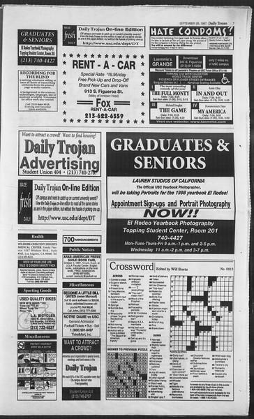 Daily Trojan, Vol. 132, No. 21, September 26, 1997