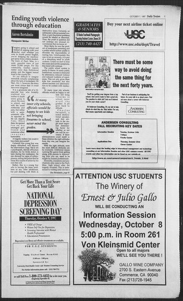 Daily Trojan, Vol. 132, No. 27, October 07, 1997